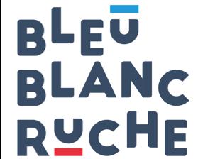 Bleu blanc ruche logo