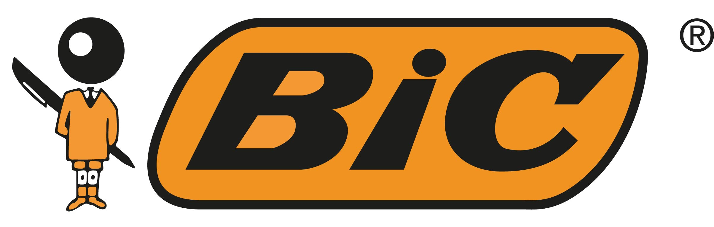 Bic logotype orange bic rvb