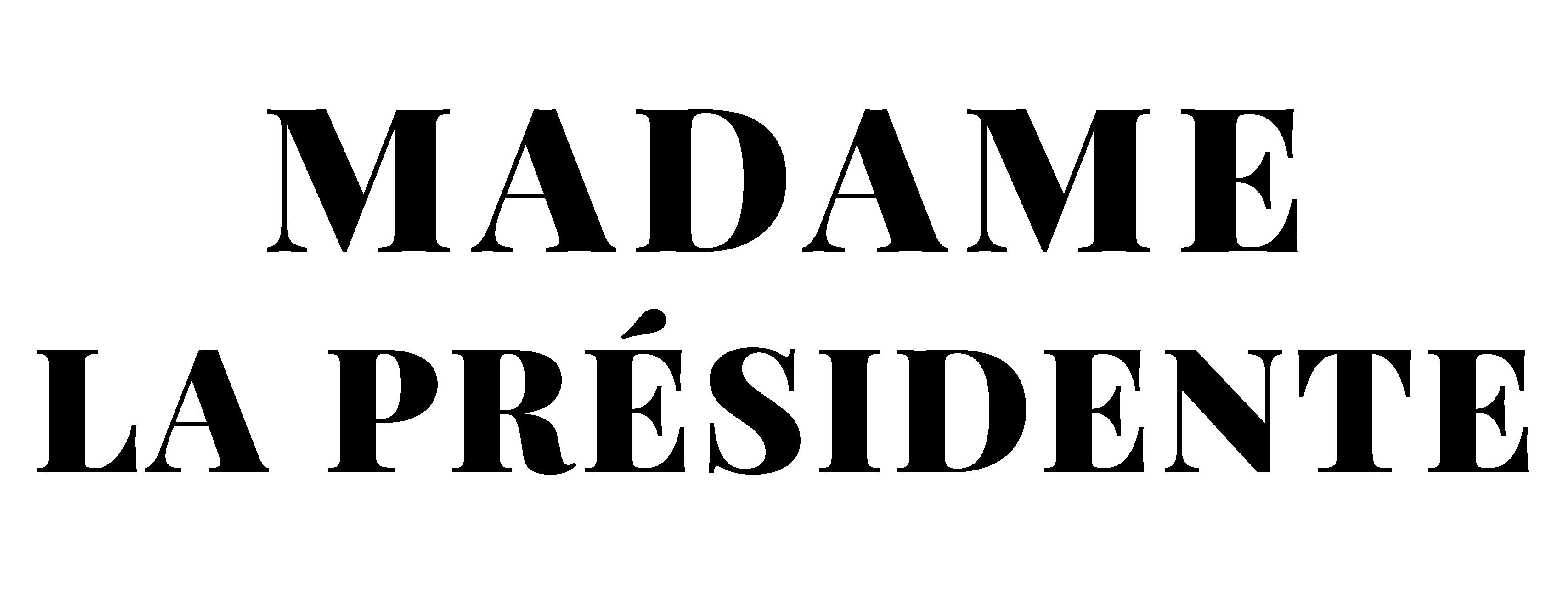 Logo madame la pr sidente gras 01