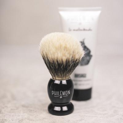 Small philemon 1889 brosse rasage blaireau shave brush men badger made in france