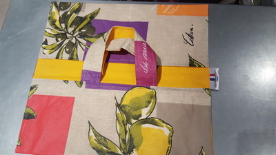 Small sac   plats reversibles modele citrolive interieur orange rouge jaune