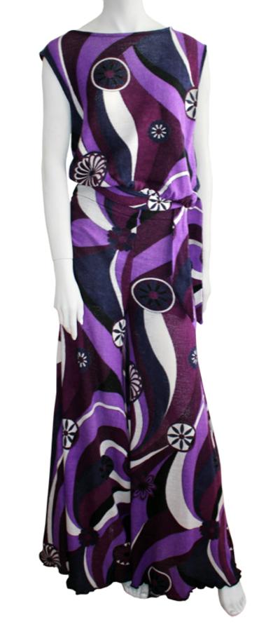 Small ensemble top pantalon maille violet gnc