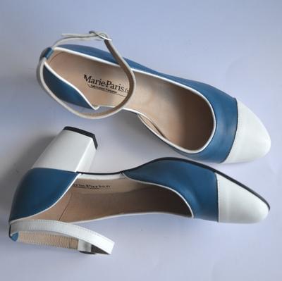 Small escarpin bleu blanc marie paris.fr