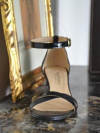 Small sandale noir et verni noir