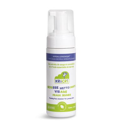Small mousse nettoyante visage peaux jeunes 150 ml face fond blanc