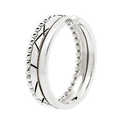 Small bague anneau motif 0164 03p