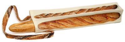 Small sac pain baguette maron bouillie paris rempli
