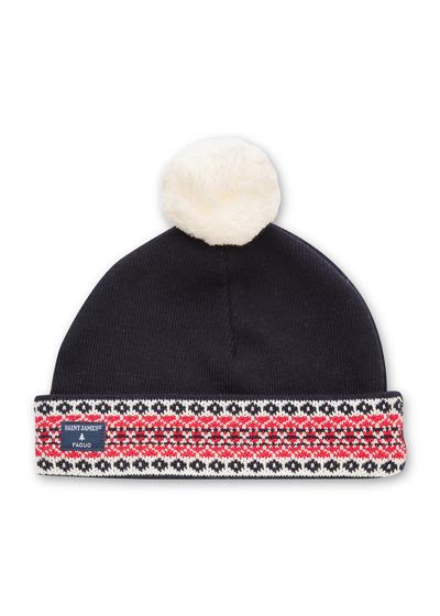 Small 9382 navy ecume tulip bonnet faguo