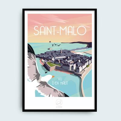 Small saint malo la loutre affiche retro from breizh