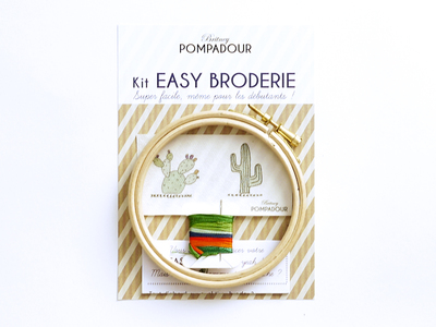 Small pack kit broderie cactus