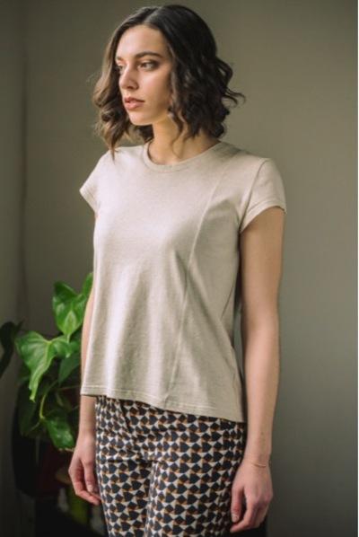 Small tshirt femme lin coton